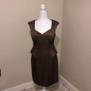 London Times brown size10 business/casual dress